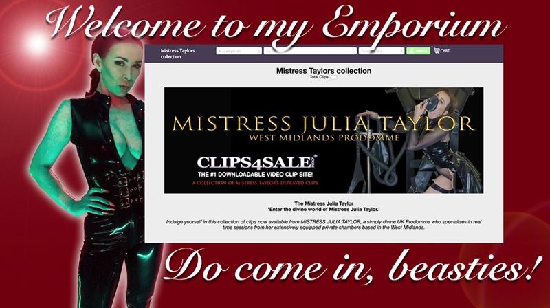 West Midlands Mistresses Miss Julia Taylor