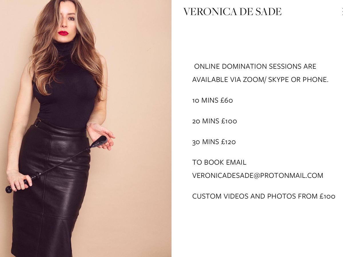 London Mistress Veronica De Sade